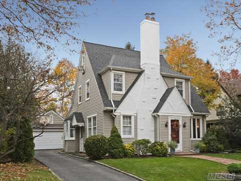 Classic & Charming French Colonial Home Nestled In The Midst Of The Adelphi Estates.  This Home Has Old World Charm With Modern Updates. Original Built-Ins, Moldings Throughout.  Updated Eik With Granite Countertops And Viking Range. Convenient To Rr And Town.  With Star, Taxes Will Be $12,496.63. A Must See!