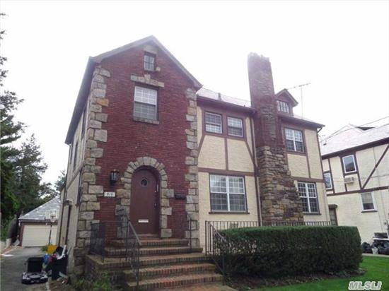 Beautiful Brick And Stucco Tudor Style Colonial In The Heart Of The Academy Section Of Woodmere. Kosher Kitchen, Large Yard, Walk To All, Taxes Have Never Been Grieved, Nor Has Star Discount Been Applied.