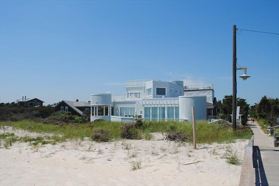 Large oceanfront home on desirable Ocean Beach block just listed!  Expansive decks. Renovated kitchen.  4 spacious bedrooms. 3.5 bathrooms.  Great value!