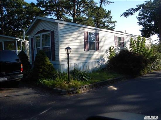 Like New 2002 14X48 Mobile Home. Open Lr, Dining Area And Kitchen With Cathedral Ceilings. Large Bedroom. Hardwood Floors. Central Air. Close To All.