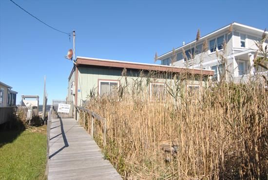 Renovated bay front home. No water damage from Sandy. Great deck overlooking the bay.