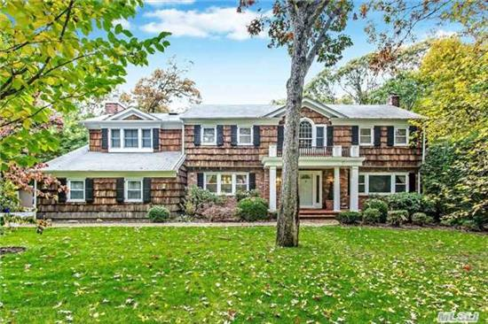 Exp Colonial W/ Huge Bonus Room/Library Or 4th Br, Magnificent Expanded Ci E-I-K W/ Custom Wood Cabinetry, Granite & High End Ss Appliances, Priv Property W/ Pool/Hot Tub & Putting Green, Large Finished Basement, Radiant Heat In Kitch & Library, Brand New Custom Molding, Wainscoting & Doors, 2 New Cac Condensers, New Stacked W & D, New Bosch Dishwasher, Redone Floors Thru