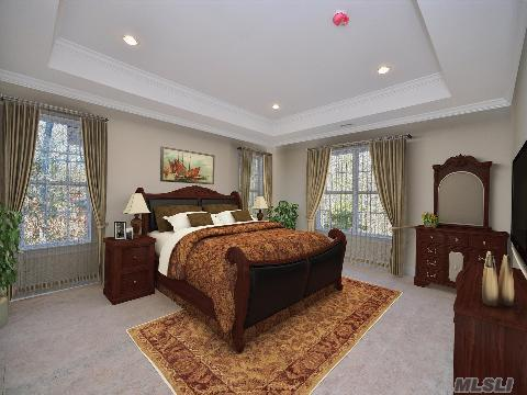 Master Bedroom with Tray Ceilling