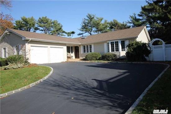 Price Adjustment, Prime Woodbury Location, Syosset Schools, Very Low Taxes, Spacious Ranch With New Eik, Granite Counter Tops & Tile Floor, Wood Flrs, Brick W/B Fireplace In Den, Large Master B/R With Full Bath, 3 Lrge B/R'ss, Full Tile Bath, Finished Basement With Lndry Rm, Office. New Roof And Gas Heating/Cac Sys, Ingrd Pool, Spinklers..A Must See..Best Deal In Woodbury