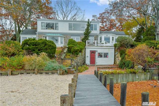 Southold Calves Neck Waterfront With Dock-Beautifully Updated And Maintained Four Bedroom Cape In Exceptional Location. Majestic Views Of Town Creek And Southold Bay. Liv.Room With Fireplace, Sunny Breakfast Room. Protected Dockage With Direct Bay Access. Enjoy Sea Breezes And Gorgeous Sunrises. A Short Stroll To Southold Village's Shopping, Restaurants And Nyc Trans.