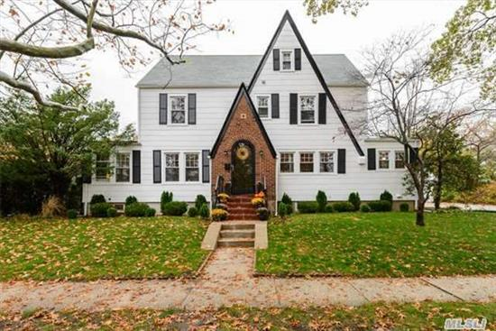 Stunning Colonial With Old World Charm Located On A Tree-Lined Street In The Exclusive Bellerose Village Area Of Floral Park. Spacious Living Rm W/Fireplace, Wood Floors With Walnut Inlay, Formal Dining Rm, Sun Rm/Den, Eat-In-Kitchen With Stainless Steel Appliances. Convenient To Lirr/Bus, Village & Shops. Prospective Buyer To Verify All Information.