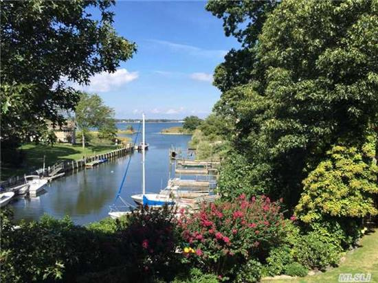 Better Than Bayfront Recent Hamptons Style Home In Desireable Harbor Lights Community. Home Sits On Safe Knoll Over Harbor W/Ownership Of 2 Slips/Private Dock And Immediate Access To The Peconic Bay. Flood Ins May Not B Necessary! Great Views To Si - Move In Ready Perfection - Top Tier All The Way.  Ass'n Bay Beach - Park And More.Convenient To All Nf Amenities.