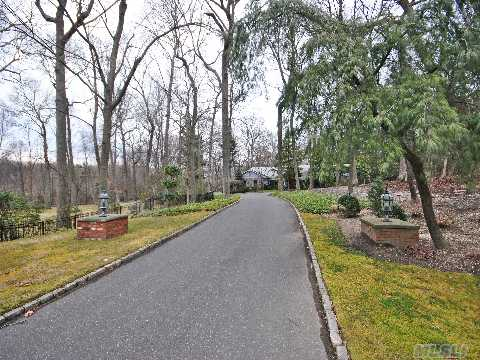 The Long And Winding Road That Leads To Your Door Of This Expansive Oversized Ranch On A Majestic 2 Acre Parcel With Mature Landscaping And Bluestone Patio And Pool.  Marble Tiled Ef Leads To The Eik With Stainless Steel Appliances And Center Island With French Doors To The Outside Patio.  Wood Floors Throughout, Huge Great Rm.  Must See!!