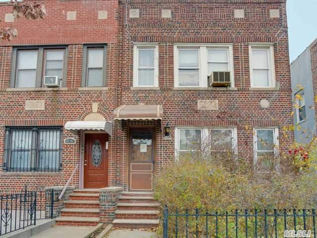 Spacious Semi Detached Brick Legal Two Family Home With Unfinished Full Basement,   Front Yard And Attached Two Car Garage.  Home Needs Tlc And Is Offered For Sale As Is.  Located In Prime Location.  Sealed Bid Offers Will Be Collected During Open House Scheduled For 12/19/2015 From 1 Pm To 3 Pm.  Preapproval And Proof Of Funds Must  Accompany Written Offer To Be Considered