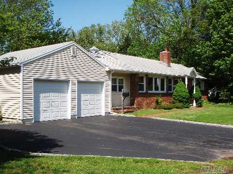 Spacious 3 Br Ranch Shows Light & Bright, Many Windows & Lots Of Closets. Nice Flat Property, Large 2 Car Garage, Cac, Low Maintenance.