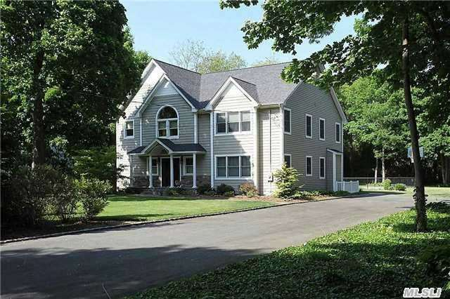 Stunning 5Br/2.5Bth Custom Built Colonial Set On A Flat Acre. Completely Renovated & Expanded In 2010. Bright & Spacious! Eik W/Maple Cabinets, Ss Appls & Radiant Heat Flrs Designer Baths. Master Suite On Main Flr. Family Rm W/Gas Fireplace & Cathedral Ceiling. Beautiful Moldings! Gleaming Hw Flrs. Sunroom W/French Dr To Patio & Igp-Great For Outside Entertaining!