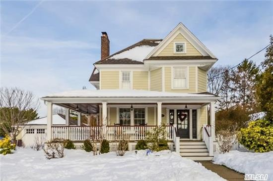 Warm And Inviting, Meticulously Maintained Victorian, W/Wrap Around Porch, Sun Filled Foyer, L/R W/Fireplace, Frml Dining Rm, W/Mill Work Detailing, Eik Opens To Expansive Family Rm, W/Sky Lights, Full Bth, French Doors Overlook Resort Style Property W/Ig Pool. Upstairs 3 Bedrooms And Full Bth. Recreation Room In Basement, And Laundry. Move Right In And Enjoy!!