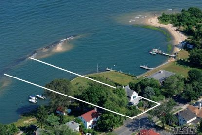 Stunning Bayfront Location With Its Own Barrier Beach. Extraordinary Combination Of Seaside And Historic Greenport Village Living. Harbor Views,  'Widows Hole.'