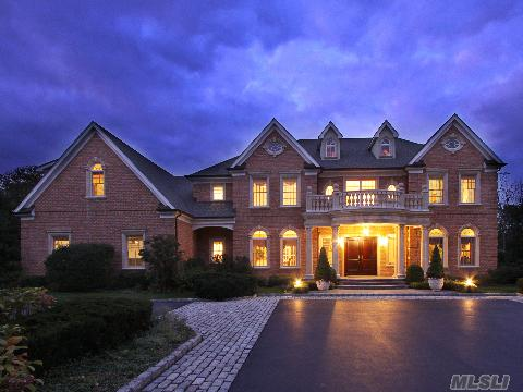 This Magnificent Custom Brick Colonial, Built In 2004, Features A State Of The Art Eik, Fam Rm, Library, Master Suite, W/ A 19'X19' Sitting Rm. Dramatic Architectural Details W/ Extensive Decorative Moldings. The Park-Like Property Is Set On 2 Level Acres W/ An Igp, Pool House. Great Flow For Indoor/Outdoor Entertainment.  Syosset Sd.