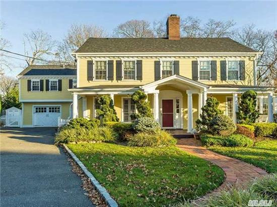 Restored Center Hall Colonial Built By Oliver Roosevelt In Hewlett Neck..Second Cousin Of President Theodore Roosevelt. Features Large Living Room W/Fpl And Sunroom. Fdr, Eik W/Great Room And Fpl. Bright And Sunny Den! True Subdivided Pella Windows And Doors.Hardy Plank Siding And New Roof. New Cac And Heating System From 2011.New Trek Front Porch And New Pergola In Back.