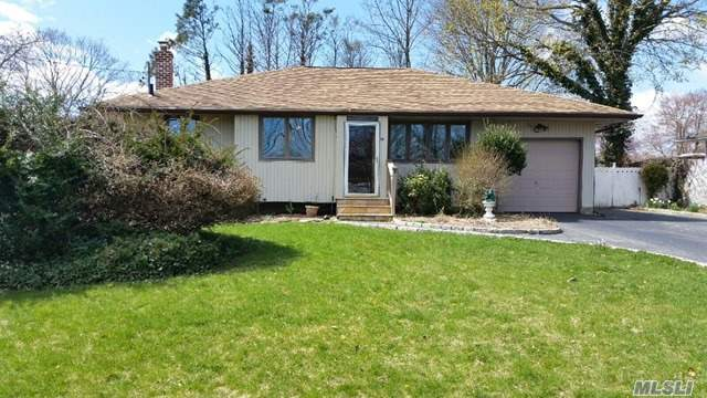Don't Miss This Charming 2/3 Br Ranch Style Home In Beautiful Smithtown! The Home Features Large Principal Rooms, Gleaming Hardwood Floors, Updated Baths, Cac, Closets Galore. Large, Flat Private Yard With Room For All. Close To Village, Parkways, Shopping And More!