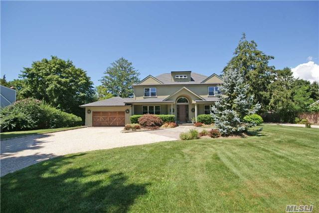Stunning Westhampton Post Modern. The Open Floor Plan Offers, Chefs Kitchen, Sitting Room, Formal Dining Room, Octagon Family Rm W/Fplc, 1st Floor En-Suite, Two Car Garage & Full Basement. Second Floor Boasts, Master Suite, Two Guest Bedrooms & Full Bath. Manicured Grounds With Expansive Outdoor Patio, Heated Ig-Pool & Legal One Bedroom One Bath Cottage W/Separate Driveway