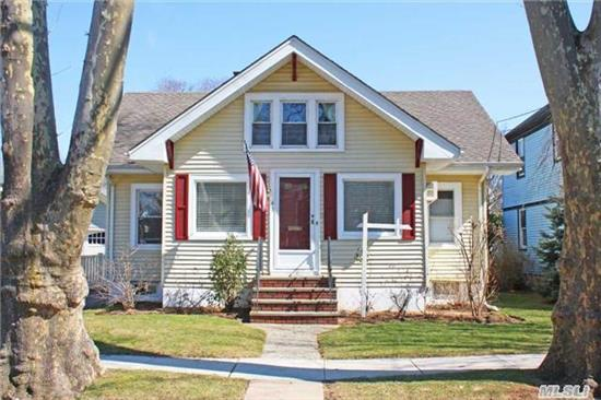 Bright And Beautiful West End Cape Features A Welcoming Entrance Hall, Spacious Living Room, Formal Dining Room, Updated Kitchen And Hardwood Floors Throughout! Award Winning School District #22. Conveniently Close To Tulip Avenue Shops, Restaurants And L.I.R.R.