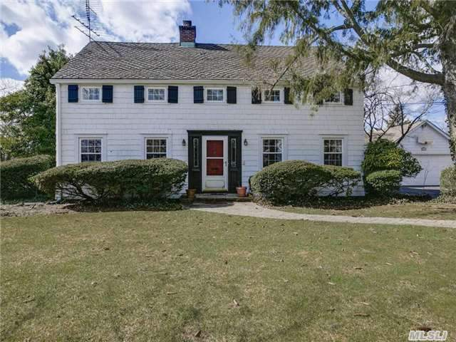Gracious Sun Filled Colonial On Oversized Property, Prime Location, This Home Exudes Warmth, Expanded Master Suite + 4 Bedrooms, 5 Full Updated Baths, Huge Country Eik, Fdr, Flr,  2 Family Rooms , 3 Wood Burning Fireplaces, Pool, Patio, Walk To All Tax Reduction Approved For $3000 Letter On File