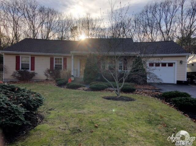 Beautiful Ranch Situated On An Acre Of Parklike Grounds.  Backyard Is Turf So Low Maintenance.  Large Deck Make It Great For Entertaining.  3 Brs, Eik, 2 Baths, Lr/Den, Dining Area. Full Basement With Entrance Through Garage. This House Is Turn Key!
