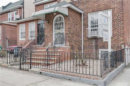 Welcome To This Detached Brick Home In E. Elmhurst/Jackson Heights Area. 10 Foot Ceilings Welcome You Into A Completely Open Layout With Entertainers Dream Living Room And Formal Dining Room. New Kitchens And Baths, King Size Rooms. Mud Room Off Rear Entrance, Summer Kitchen, Backyard With 2 Car Parking! A True Must See!