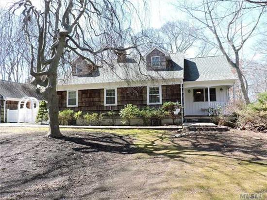 Magnificent Cape With Privacy & Space!New Kit W/Cherry Cabinetry, Stone Counters & Heated Floor!New Baths, Custom Woodwork Throughout With New Andersen & Pella Windows, Finished Daylight Basement Full Bath W/Steam Shower & Jacuzzi Also Ose! Don't Miss This Picture Perfect Home!
