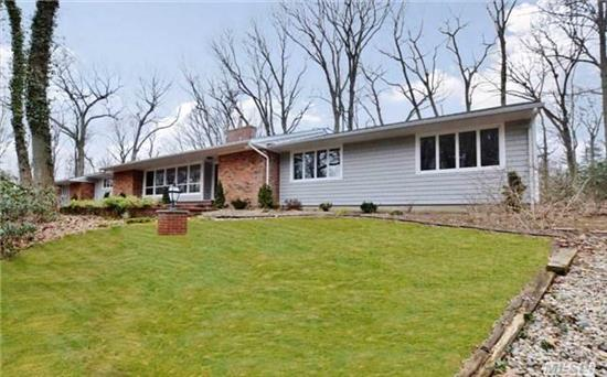 Diamond & Immaculate Ranch With Open Floor Plan & Chef's Kitchen With 2 Sinks. This House Has It All. Expansive Principal Rooms & Huge Eat In Kitchen Make This Home Truly A Cannot Miss. Great For Entertaining. 4 Bedrooms & 3 Baths. 2 Acres In Renowned Oyster Bay Cove.