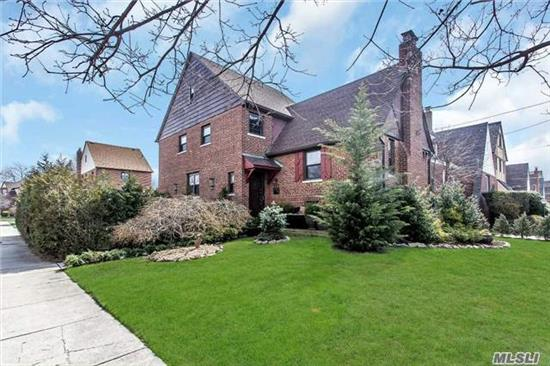 A Truly Unique Tudor Home All Brick New To Market In Desirable School Dist 14. Pay Extra Attention To Details. Features Updated Kitchen With Ssa, Quartz Counter, Formal Dining Room, Formal Living Rm Cathedral Ceilings & Fire Place. Hardwood Floors Thru Out, Finished Attic With Lots Of Storage, Ductless A/C Units, New Heating System, New Roof, New Windows, Near Transp Lirr