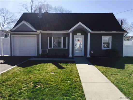 Al Info Deemed Accurate But Must Be Confirmed By Prospective Buyers. Updated And Expanded Cape With Rear Dormer,  Fireplace, New Siding, Roof, Full Bath, Gas Burner, Pvc Oversized Property, Cherry Floors, 150 Amp Electric, Sprinklers,  Ultra Clean. Massapequa Schools, Lockhart Elementary. Walk To Rr