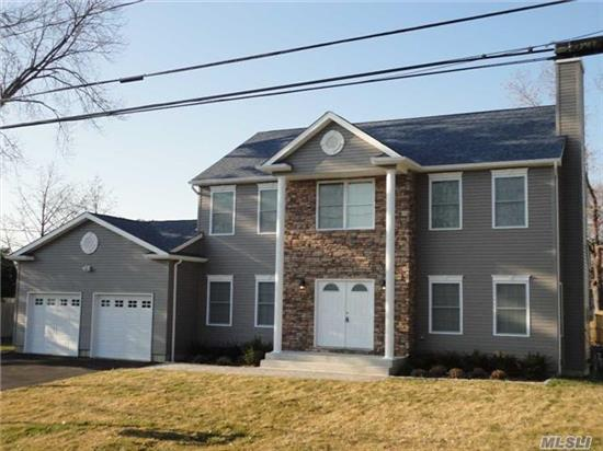New Center Hall Colonial On Large Property. Upgraded Kitchen With Granite Countertops, Wood Floors, Upgraded Bathrooms & Hardwood, Fireplace Etc Etc...