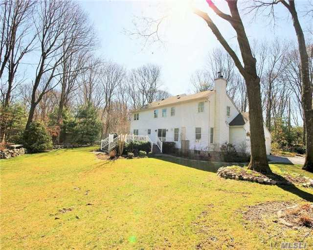 Minutes From Ferry, N Shore Beaches, Parks & Golf; Wonderful Colonial On A Private Road With 1.22 Acres Of Property. This Home Boast An Open Floor Plan, Formal Lr, Formal Dr, Den/Fpl, Eat-In Kitchen With Sliders To Rear Deck For Outdoor Entertaining! Upper Level: 3Brs, Hall Bath, Master Br W/Fbth. Full Bsmt For Additional Storage! Taxes W/Star $10, 494.87.