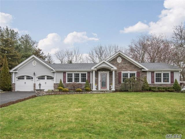 Beautiful Ranch In The Center Of Smithtown. Close To Everything. Wonderful Front Entry Leads Into A Fabulous Home That Has Been Completely Redone 6 Years Ago. All New Siding, Roof, Windows, Fresh Paint, Security System. 3 Beds, 2 Fulls Baths, Custom Granite Kitchen, Faux Painted Hall Way, 35X20 Deck Made For Entertaining. 2 Car Garage.