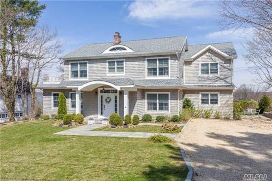 Top Of The Hill!! Expansive 180 Degree Water Views!! Renovated And Expanded In 2012! Bay Hills Beach Assoc.W/Beach & Mooring Rights & Tennis W/Fee. Kitchen/Great Room, Master Br Suite With Full Bath And Walk In Closet, 1 Br En Suite, 3 Family Brs, Large Deck Overlooking Long Island Sound With Views Of Connecticut, Eatons Neck And Lloyd Neck.