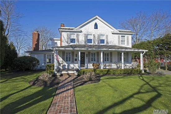 Truly Magnificent Home...Turn Key House Beautiful Completely Renovated, Hdwd Flrs & Crown Molding Thru Out. All Updated Elec & 300 Amp Srvce, Granite Counters, Radiant Heat Flrs In Bath & Bar Rm. Mstr Ste W/Oak Wic & Calcutta Mbl Ba. Lg Prop W/Brick Patio, Ipe Deck + Gas Fire Pit. Man Cave Bar In Barn W/Cath Ceiling Wd Burn Stove & Black Walnt Counter - Check Out Video!