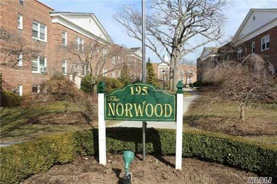 Great One Bedroom With Large Rooms, Wood Floors And Lots Of Closets In Beautifully Manicured Norwood.  Bike Room And Storage Available.