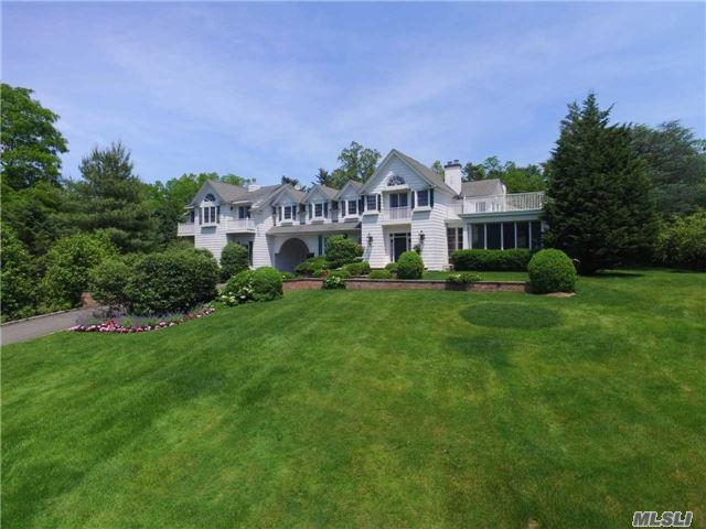 Major Tax Reduction! Freshly Painted! Estate Living! Classic Col. On 2.26 Acres.6/7 Bdrm, 4.5 Bth. Exp & Ren In 2004, High Ceil, Hrdwd Flrs,  Cstm Mldings & Millwork, Rad Heat & 7 Fplces. Over-Sized Gour Kit W/Sit Area & Fplce, Mstr Suite W/Dual Fplce, Marble Bth Spa & Cstm Clsts.Spac Sun Porch, W/ Views Of Prop & Ing Pool. Porte-Cochere To 3 Car Htd Gar.