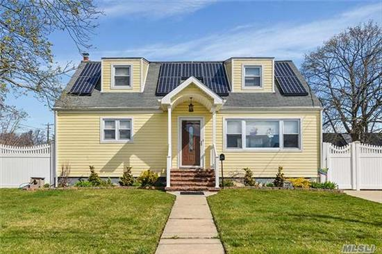 Diamond Rear Dormered Cape In Award Winning School District 18!!!! Large Master Bedroom Suite With Sitting Room-Easy Conversion Back To 4th Bedroom!!! Fully Fenced 70 X 100 Yard !!! Central Ac!!!! Plenty Of Closets!!! Taxes With Basic Star Under $9500!!!