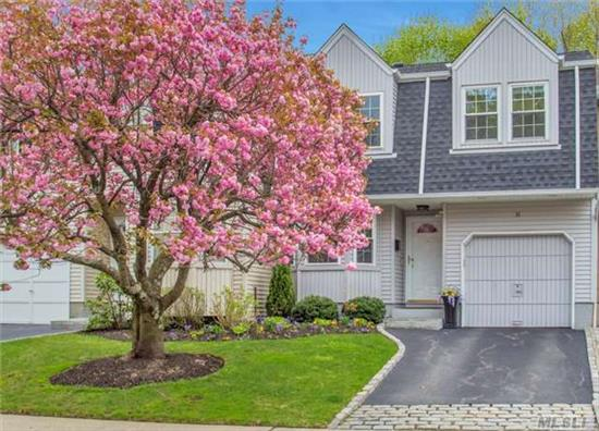Totally Renovated, Sun-Filled Townhouse In Prime Periphery Location With Backyard Privacy On The Greenbelt. The Manors Is An Intimate Condominium Complex With Private Pool & Tennis In A Pristine, Well-Maintained Environment. Jericho School District.