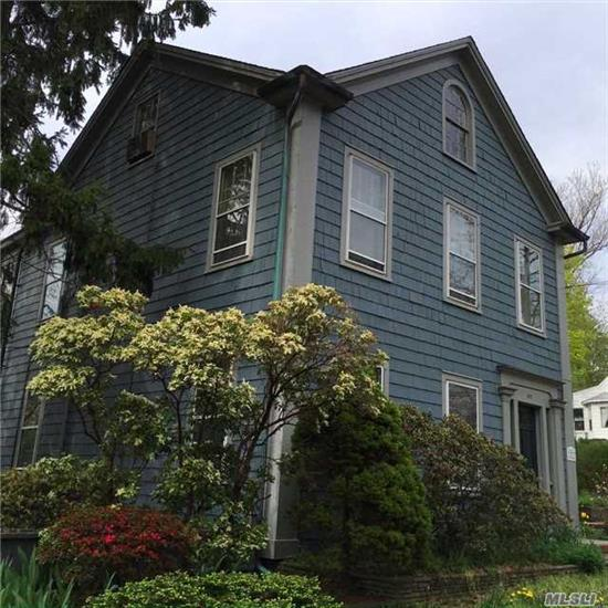 Wonderful Village Oldie In The Heart Of Port Jefferson. Situated On 2 Lots With A Two-Story Lofted Barn. Charming Historic Home Boasts 13 Rooms With 3 Fireplaces And Original Wide Plank Wood Floors. Slate Patios And Brick Walkways Surround This Lovely House Just Steps Away From The Harbor And Downtown Area. New Roof And Gas Burner.