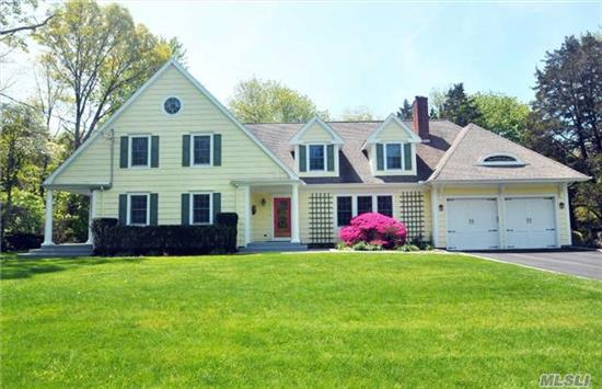 Nestled On Shy 3 Acres On A Cul-De-Sac, This Warm & Inviting Colonial Has Been Meticulously Maintained. Spacious Sun-Filled Rooms Include 23'X14' Dining Room W/Fireplace, Family Room Opening To Classic Eat-In Kitchen & Access To Screened-In Porch & Expansive Deck Overlooking Pool. 2nd Floor Includes 23'X16' Ensuite Master Br, 3 Brs, Full Bath & Laundry Rm.