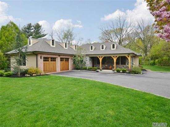 New To Market In Harborfields S.D.! A Magnificent Custom Ranch Completely Renovated In 2012 With Attention To Every Detail And No Expense Spared. 4Br, 3.5Bth, Master Suite W/Fbth & 2Wics, Stunning Chef's Kitchen, On 1.2 Acres Of Flat Property, 2-Car Garage, Full Finished Basement W/Fbth And Ose, Front And Back Covered Porches, Professionally Landscaped, Generator Ready.