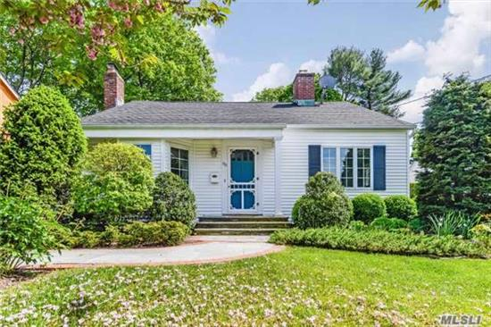 Lovely Home In Heart Of Huntington Village. Much Larger Than It Appears From Street. Open, Airy Cape Is 4 Bdrms, 2 Full New Bths, New Kitchen, Breakfast Rm Overlooking Wonderful Backyard, Den Off Breakfast Rm, Full Finished Basement W/Laundry Area.
