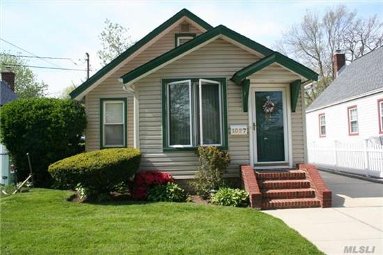 Lovely Cozy Starter Home With Updated Eat In Kitchen, Formal Dining Rm, Lr With Fireplace, Full Basement, 1 Car Detached Garage, New Roof
