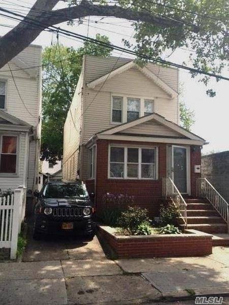 1 Family Fully Detached, Share Driveway, 1 Car Garage, Full Finished Bsmnt, 1.5 Bathrooms, Hardwood Floors, Updated Bathrooms & Kitchen, Walking Distance To Transportation A&J Train, Shopping Area, Schools, Etc....