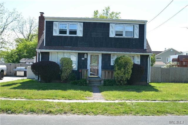 Beautiful Cape On An Oversized Property Located In A Beautiful Neighborhood. West Babylon School District. Features 3 Bedroom 1.5 Bath. Family Room Can Be 4th Bedroom. Connection For A Second 1/2 Bath Located On 2nd Floor. New Heating System, New Washer/Dryer. Roof 6 Years Old. Cac Hook Up.