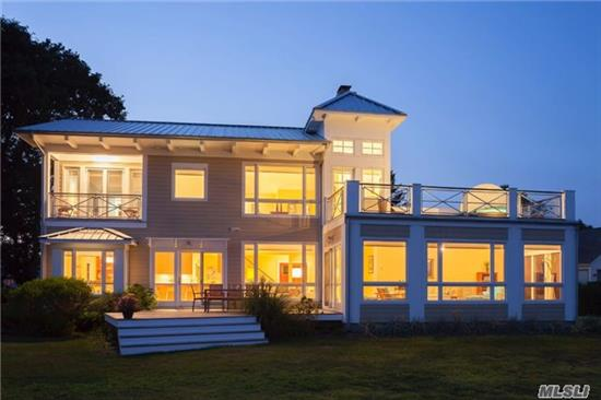 Located In Southold Shores, This Architect's Own Home Is Built With All The Beautiful Appointments You Can Imagine. Embracing The Purity Of Architectural Detail, Together With A Refined Simplicity, This Waterfront Home Offers A Timeless Elegance. Sweeping Sunsets Eye-Catching Angles And Thoughtful Details Provide Constant Visual Interest. It Is Truly Stunning.