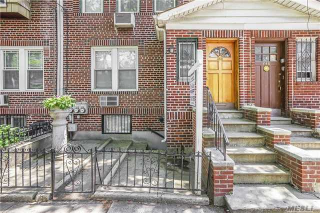 Brick 2 Family On A Beautiful Tree Lined Street. Only 2 Blocks To Dekalb L Train And A Short Distanct To The Seneca Ave M Train. 5 Rooms 2 Bedrooms Over 6 Rooms, 3 Bedrooms. Full Finished Basement With Large Windows And Plenty Of Light Boxed Rooms, 2 Car Garage, Private Yard. Home Can Be Vacant On Title
