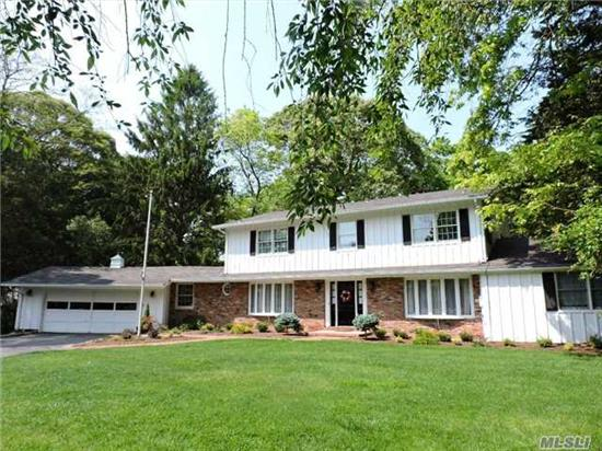 Magnificent 3400 Sq.Ft. Custom Colonial On Parklike, Secluded 1.10 Acres! Heated Pool Surrounded By Lush Landscaping. 24X17 Sunroom W/Walls Of Windows And Hot Tub.Country Kit W/Custom Cabinetry & Stainless Appliances Viking Stove.Mstr Suites 1st & 2nd Flrs, Spacious Liv Rm, 5 Large Bedrooms & 4 Full Baths, Room For Mom & Dad Or Guests! For The Buyer Who Wants The Best!