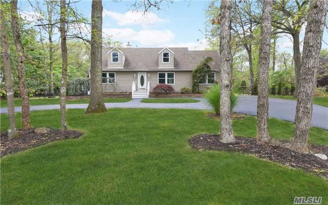 Huge Wide Line Colonial Cape. Completely Renovated Gorgeous Cabinets W/Granite, Stainless App. New Baths. Open Floor Plan. Secluded Builders Acre. Circular Drive, Fin Base Can Be Apart. W/Proper Permits. Owner Spared Nothing For This Fabulous Home. New Cedar Like Siding. Tasteful Colors Inside And Out. Move Right In. This Home Is A Must See!!!!!