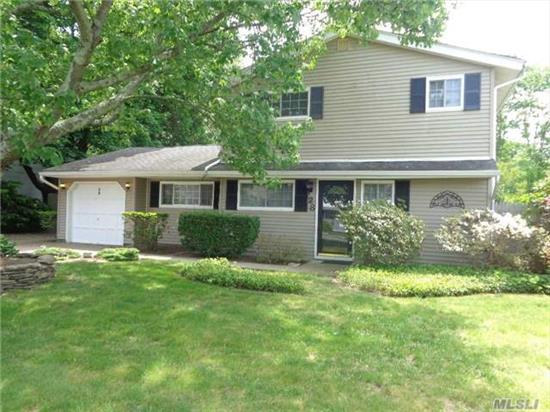 Spacious Colonial Features 4 Bedrooms, 1.5 Baths, Updated Kitchen & Baths, Very Large Eat In Kitchen, Updated Roof, Windows, & Siding, Recessed Lights, Igs!